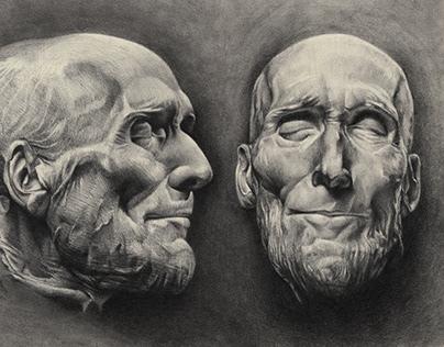 portrait studies. (graphite)