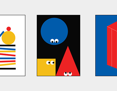 A series of Geometric Colorful Poster Designs