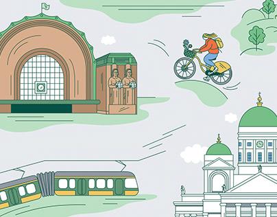 Helsinki illustrations