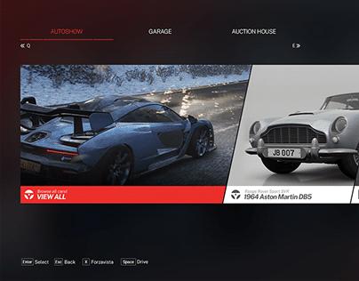 Forza Horizon UI Redesign - PC