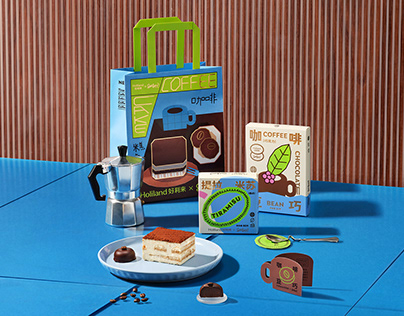 Holiand X Sesaw Coffee cake packaging