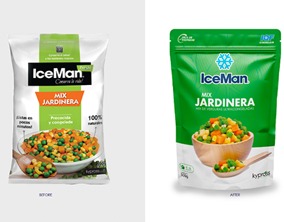Re branding y packagin de verduras