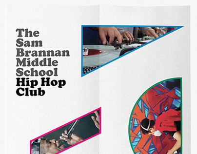 sam brannan middle school hip hop club hallway posters