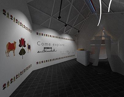An experiential display setting for Studio smitamoksh