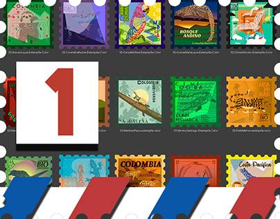 Estampillas - Postage Stamps 01