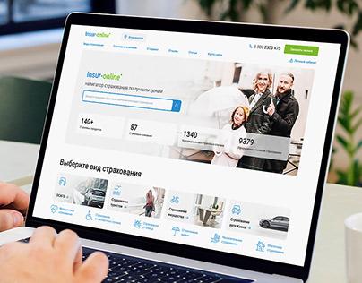 Insur-Online, website design