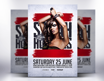Electro DJ World Tour Flyer Template