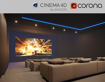 Corona - C4D scene files - Luxury Home Cinema