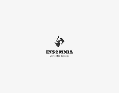 The concept of logotype for Coffee Shop named Insomnia