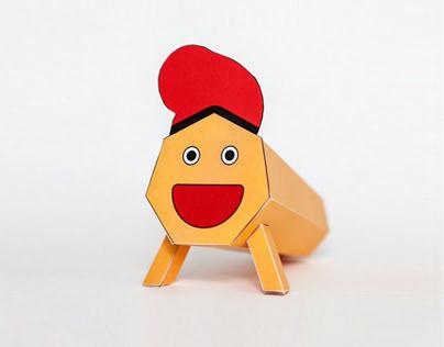 Tió Paper Toy