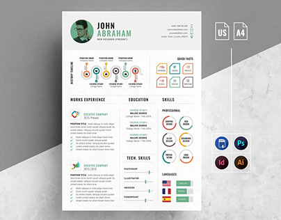 Info-graphic Resume/CV