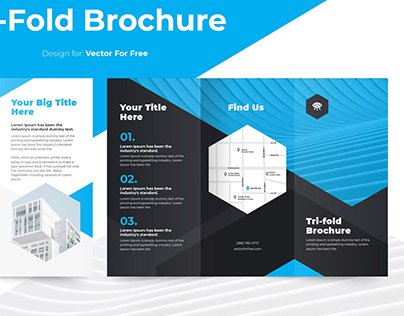 Tri-Fold Brochure template for vectorforfree.com
