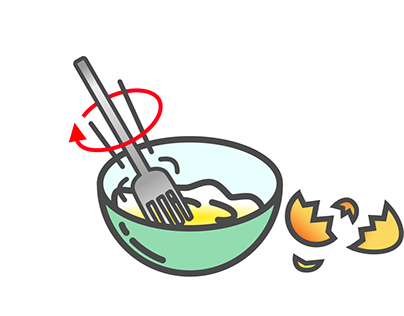 How to make fried eggs gif
