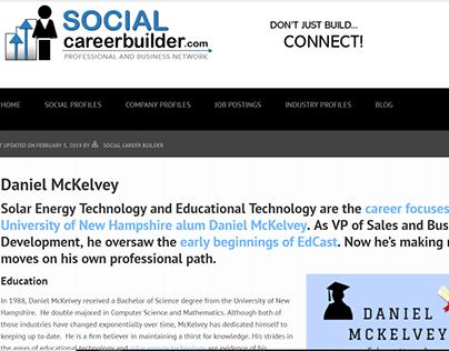 Social Career Builder - Daniel McKelvey