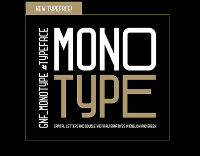 GNF_Monotype, a bold display minimal title font