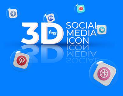 Social media 3D Icons Download Free
