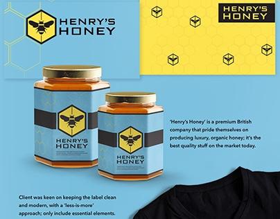 Henry's Honey - Brand Identity