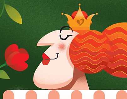 The red queen in the rose garden