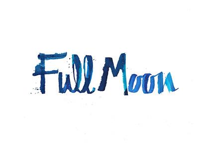 Full Moon Festival. Logo + Calligraphy + Poster Design