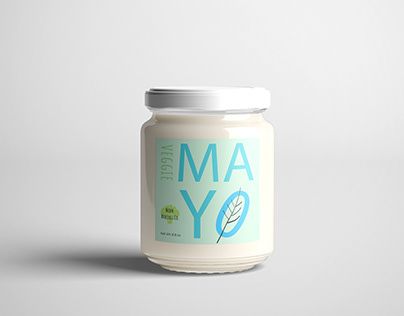 Mean Broccoli Co. Vegan Mayo packaging design