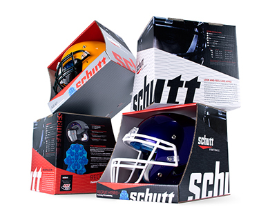 Schutt Sports Football Retail Helmet Packaging