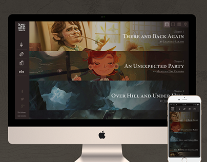 Lord of the Rings Tribute Webdesign