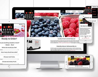 Website Design: Berry Bowls Fruit Delivery