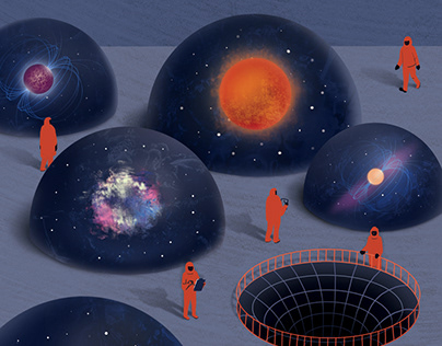 Space illustrations for Kunsht Magazine