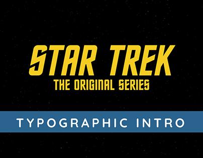 Star Trek TOS Typographic Intro | Video