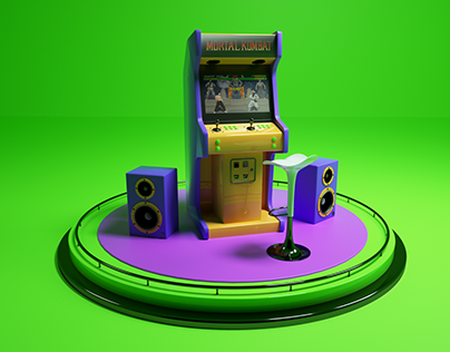 Arcade Machine Cinema 4D