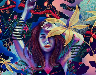 Natural Flow Digital Illustrations