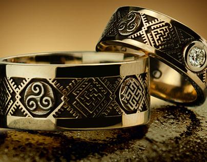 Slavic wedding rings - Tyvodar.com