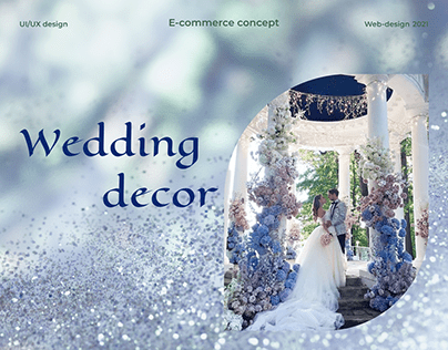 E-commerce concept   Wedding decor
