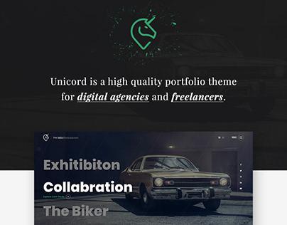 Unicord | Creative Portfolio for Freelancers & Agencies