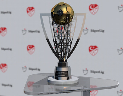 Turkish Super League Trophy 3D Model