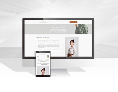 Site para Psicóloga Marianne