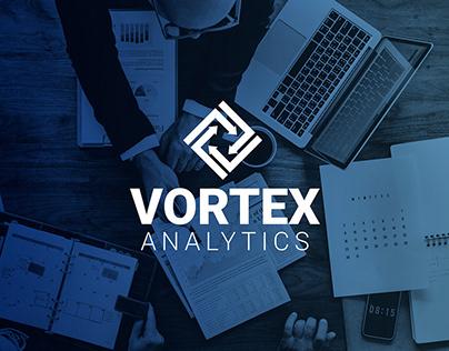 Daily Logo Challenge #11 Vortex Analytics