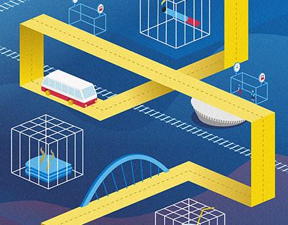 Komunikacja miejska Katowice || Ilustration