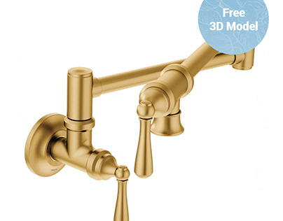 Moen S664 Traditional Pot Filler Faucet FREE 3D Model