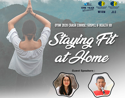 """POSTER OYiM Crash Cours : """"Staying Fit at Home"""""""