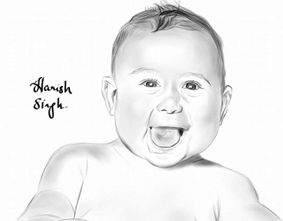 Happy Baby Portrait
