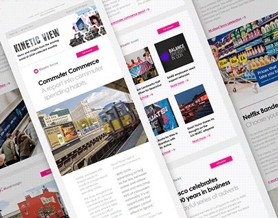 Kinetic: Newsletter template and social media