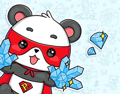 Super Panda Crypto Stickers