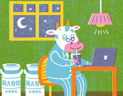 Milk Family illustration