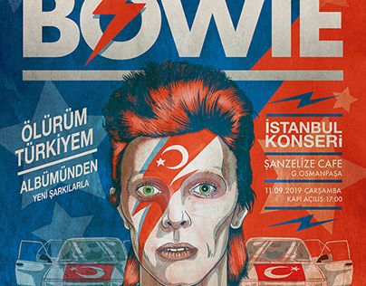 BOWIE - Dream Gigs illustrated
