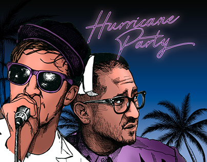 Hurricane Party Tourposter 2018