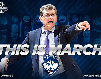 UConn Basketball Social Media Graphics
