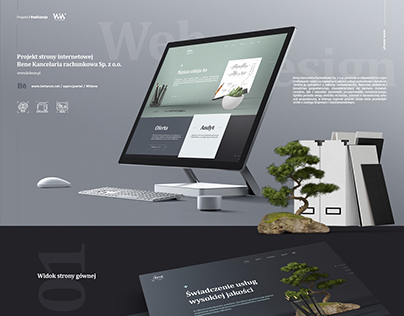 Accounting office RWD website design