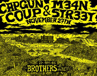 CAPGUN COUP X M34N STR33T X BROTHERS LOUNGE