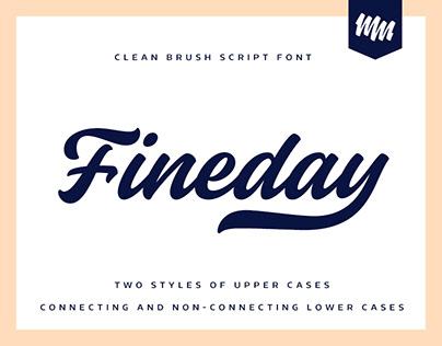 Fineday typeface